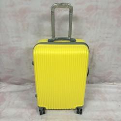 Cheap Yellow Girls Travel Luggage , Hard PC Women Suitcase