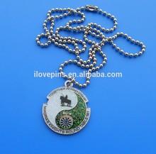 metal friendship pendant necklace glitter design