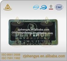 Plastic car license plate frame/zinc alloy license plate holder/Stainless steel license plate cover