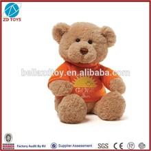 fluffy teddy bear plush stuffed teedy bear stuffed toy bear with t-shirt