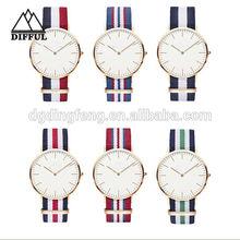 DW style nato watch band, nylon watch strap, Daniel Wellington