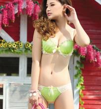 sexy bra and panty set for lovely girls, v shape bra