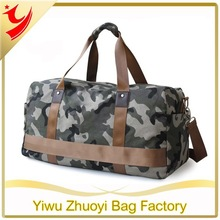 Heavy duty army canvas travel duffel bags with shoulder handles wholesale