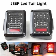 1Pair Auto Rear Light DC 12V 36 LED Red Amber White Turn Signal Running Brake Reverse Taillight For Jeep Wrangler JK Tail Lamp