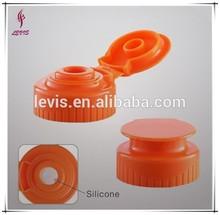 28mm/400 plastic flip top cap w/ silicone liner