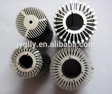 Mill finish round hollow extruded aluminium radiator profile