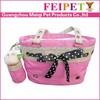 Lovely cute pink pet carrier bag dog bag with belt