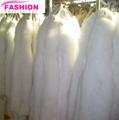 morbida e liscia di alta qualità bianco di pelliccia di volpe pelle