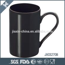 10oz X' mas design porcelain coffee mug, black colored porcelain mug