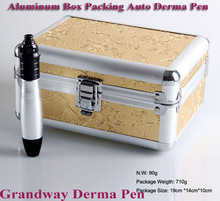 Electric Derma Pen Aluminum Box Packing Derma Stamp Meso Needle Pen for home use and beauty salon