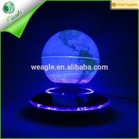 UFO base 7 colors lighting magnetic levitation 8'' floating_world_globe