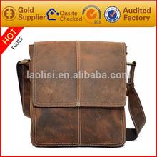 2015 SS hot selling waterproof messenger bag men leather sling bags