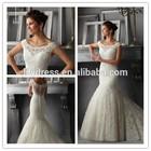 Sheath Lace Mermaid China Sleeveless Crocheted Factory Sweetheart Vintage MM-8691 Princess 2015 Cheap Wedding Dress