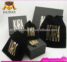 Custom Wholesale Velvet Bag /Black Velvet Pouch