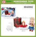 Diy casa de boneca bonecas de madeira montados sofa mesa terno auto carregamento, vinyll kits da boneca, boneca h040992