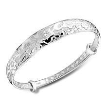 925 Sterling Silver Latest Flower Design Bangles And Bracelet B0809