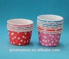 Polka dot cupcake baking cup muffin cup