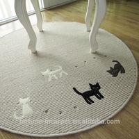 Anti-slip washable floor mat ,Loop pile cat mat for computer&cup chair
