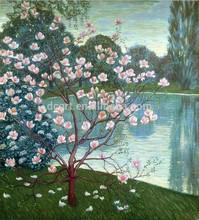 Beautiful Magnolia Floral Art Canvas Painting