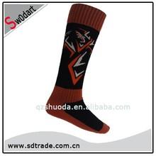 Swodart bulk winter thermal orange thermal socks women knee high