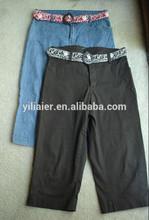 damas denim sarga pantalones capris pantalones vaqueros pantalones cortos