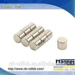 neodymium cylinder magnet/permanent neodymium monopole magnet/permanent magnets for sale
