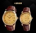 Dia dos namorados melhores presentes casal relógios de pulso estilo clássico relógios de ouro das mulheres