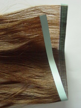 100 Chinese human hair double sides tape hair with wholesale price