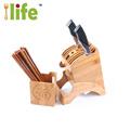 bambou couteau de repos cuillère fourchette couteau bloc 4x7 cuisine rack