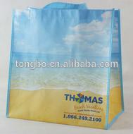 Lead free Beach Blue Sky Imprint Shopper non woven bag with handle
