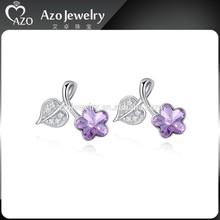 Cheap Cute Flower&Heart 925 Sterling Silver Earrings for Girls