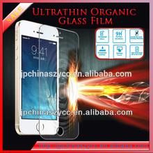 Ultra thin organic glass film anti-shock screen guard for iphone5/iphone5s