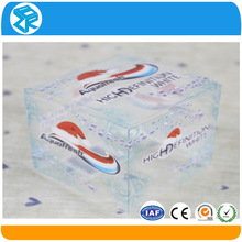 promotional professional custom PVC acetate folding cheap clear plastic packaging
