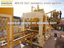 Hot sales QT4-15 fully automatic multi-function concrete block machine,latest technology
