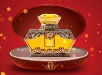 imperial crown shaped crystal perfume bottle for car use