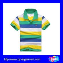 ropa de bajo precio para los niños de la moda barata niños raya camisa de polo de venta al por mayor
