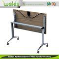 preço de grosso design bonito escritório inteligente de alumínio base de mesa dobrável