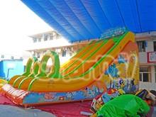 Colorful Animal World Inflatable Jungle Slide for Kids
