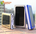 Super fast Charging 5v rechargeable battery pack Portable 10000 mah Solar Power Bank for mobile phone and Tablet PC