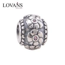 Antique Flower Metal Pendant Charms 925 Sterling Silver Jewelry Accessories Wholesale Fits Women Bracelet Necklace YZ692