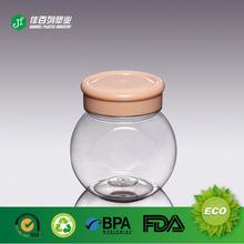 270ml Flat ball shape Mini food containers plastic screw lid