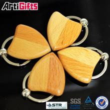 Wholesale souvenir blank wooden keyring round