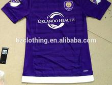 2015 orlando de la ciudad de tailandia mejor calidad de color púrpura de camisetas de fútbol