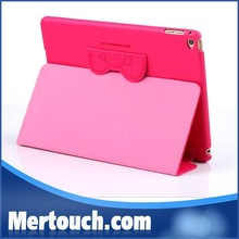 Lovely Cartoon cute Hello Kitty Flip Leather Pu case for iPad 6 Stand leather cover for iPad air 2