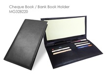All in one Custom Made Artificial PU / Genuine Leather Cheque Book Holder, Travel Document Wallet, Passport Holder
