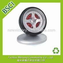 Custom Tyre Clock with Logo