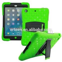Nice diamond hybrid hard case for iPad mini with stents