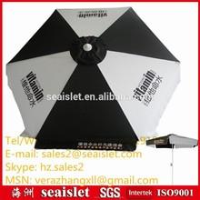 6K garden umbrella square rib, beach umbrella 6 ribs, white and black beach umbrella
