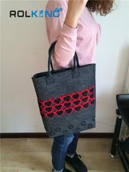 stylish allover print canvas tote bag