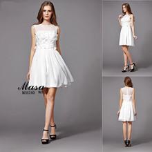 Simple design white chiffon short elegant short dresses for proms 2015 online shopping hong kong unique semi formal dresses
